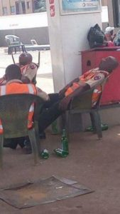 OrijoReporter.com, Photo of FRSC officials drunk