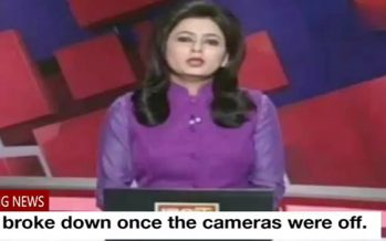 (Video) TV news presenter finds out live on air that her husband has died in the news she was reading
