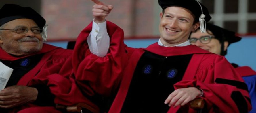 Zuckerberg bags honourary PhD Degree 13 years after dropping out