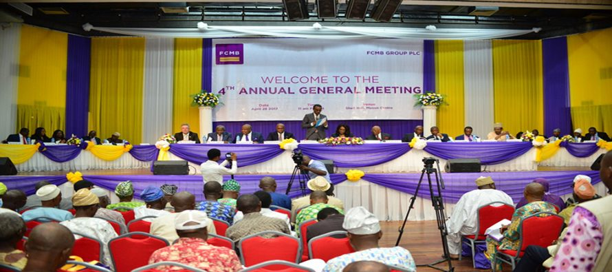 FCMB Group holds 4th AGM as  shareholders hail its 2016 performance