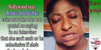 OrijoReporter.com, Ronke Oshodi Oke weeps
