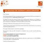 OrijoReporter.com, GTBank apologise to customers for service disruption
