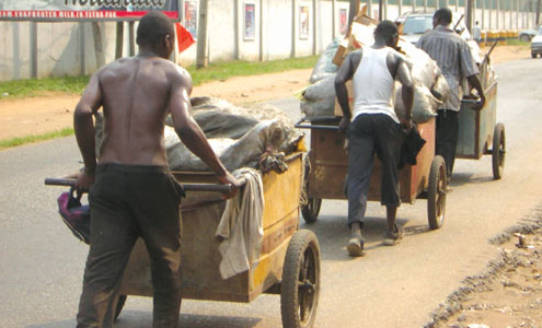 OrijoReporter.com, Lagos bans cart pushers