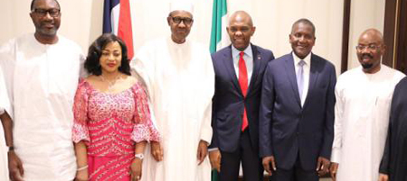 OrijoReporter.com, Buhari breaks fast with Zenith Bank Chairman