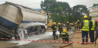 Tanker driver arrested in Lagos as tragedy averted